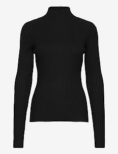 Ebo Knit Top 20-04 - turtlenecks - black
