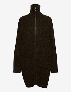Lund Knit Cardigan 20-04 - cardigans - olive