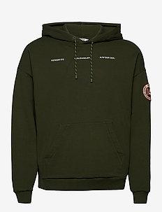 Forest Print Hoodie - perus-college-paitoja - dark green