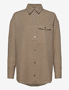 Bird Wool Shirt 20-04 - overshirts - camel