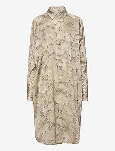 Fram Print Dress - shirt dresses - tree fossil brown