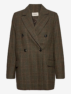 Stegastein Check Blazer 20-04 - blezery - brown check