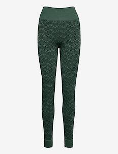 Monogram Tights - leggings - green