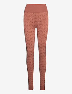 Monogram Tights - leggings - terracotta