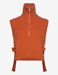 Hafjell Knit Bib 20-04 - kamizelki - orange