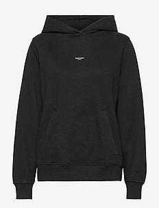 W. Oslo Hoodie - sweatshirts & hættetrøjer - black