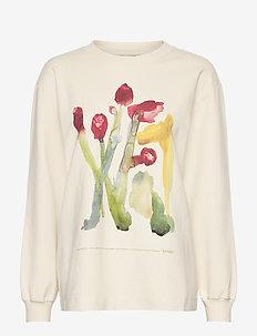 Luring Print LS - sweatshirts - ecru flower print