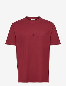 Live Tee - basis-t-skjorter - burgundy