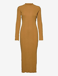 Hadeland Knit Dress - bodycon dresses - lt. brown