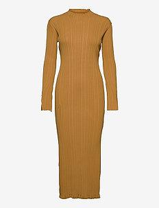 Hadeland Knit Dress - bodycon jurken - lt. brown