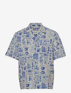 Kia Print Shirt - koszule lniane - blue mix