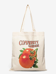 Continental Print Tote - sacs en toile - ecru