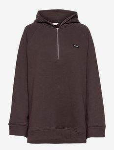 Sissel Zip Hoodie - sweatshirts et sweats à capuche - brown