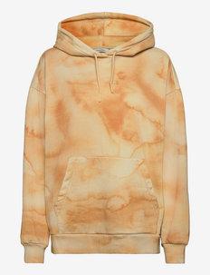 Placebo Print Hoodie - sweatshirts et sweats à capuche - yellow mix