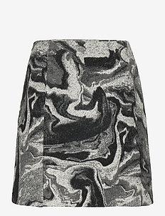 Bella Skirt - korte nederdele - grey mix