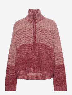 Tine Knit Cardigan - vesten - dk. red