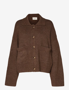 Tired Knit Cardigan - cardigans - brown
