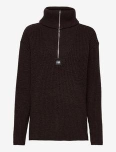 React Knit Sweater - pologenser - dk. brown