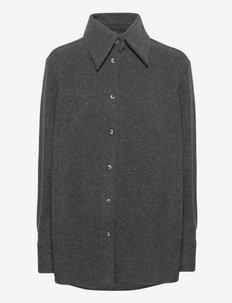 Ro Wool Shirt - kleding - dk. grey