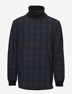 TOMAS Top - rullekraver - black check
