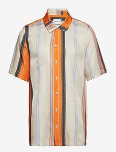 BOXY Shirt Short Sleeve - kortærmede skjorter - orange stripe