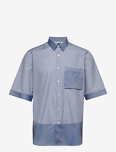 BOXY Shirt Short Sleeve - kortærmede skjorter - silver