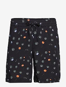 BOB Print Shorts - BLACK