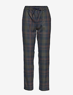 OLINE Trousers - BROWN CHECK
