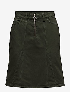 BRIDGET Skirt AW18 - jeansowe spódnice - army
