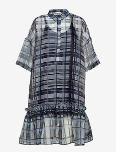 TWISTED Dress - BLUE CHECK FAILED