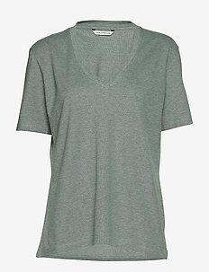 FJELL T-shirt - TEAL MELANGE