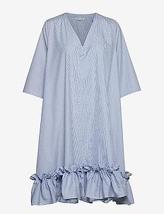 BERLE Dress - BLUE STRIPE