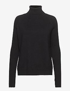 IMPRESSED Knit - rollkragenpullover - black