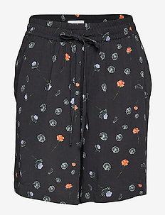 LYNG Print Shorts - BLACK