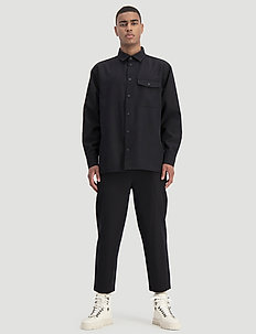 Bumble Shirt Wool - basic skjortor - black