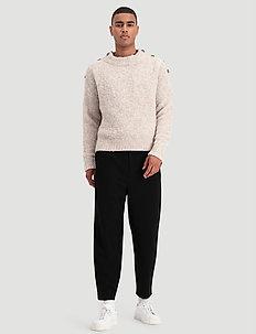 Termite Knit Sweater - stickade basplagg - sand