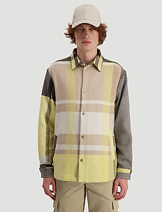 Elix shirtjacket - overshirts - yellow check