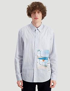 Habitt Toyenbadet shirt - casual skjortor - blue stripe