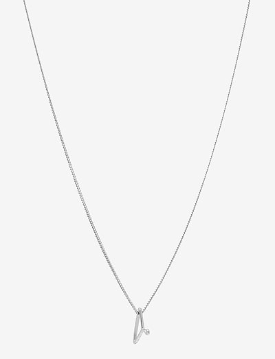 Silver Hanger Necklace Small 00-00 - dainty necklaces  use default - silver