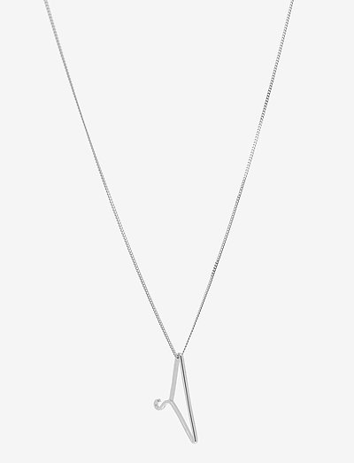 Silver Hanger Necklace Large 00-00 - dainty necklaces  use default - silver