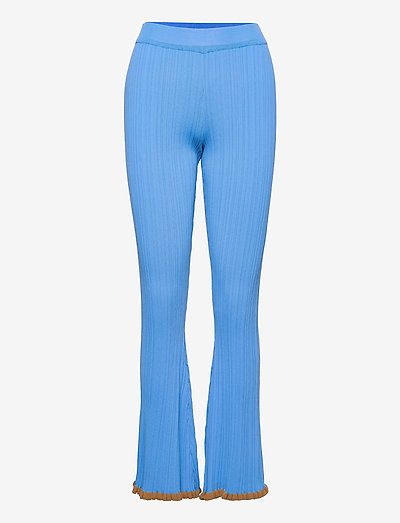 Dahlia Knit Trouser - tøj - lt. blue