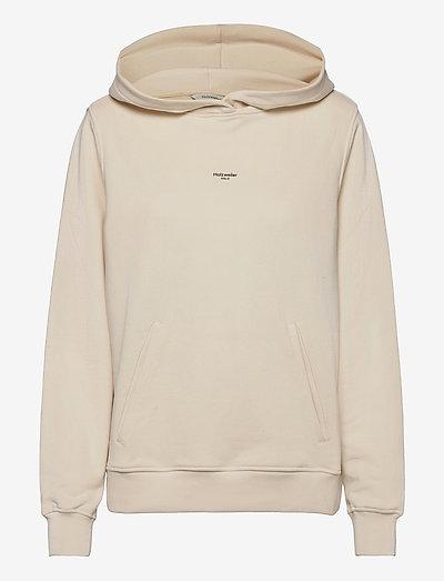 W. Oslo Hoodie - sweatshirts & hættetrøjer - ecru