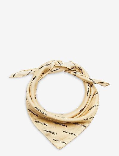 Fine Scarf Twill Medium - accessories - lt. yellow text