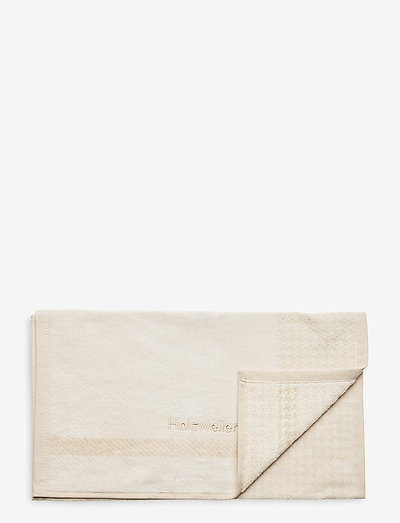 Holzweiler Towel 40x70 - beachwear - ecru check