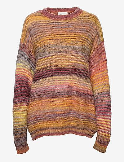 Sandaker Knit Sweater - truien - yellow mix