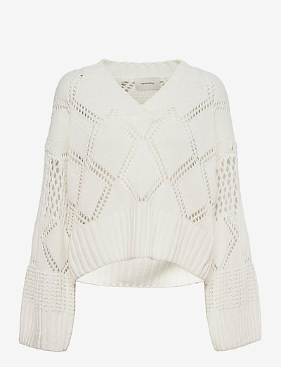 Hiet Knit Sweater - pullover - white