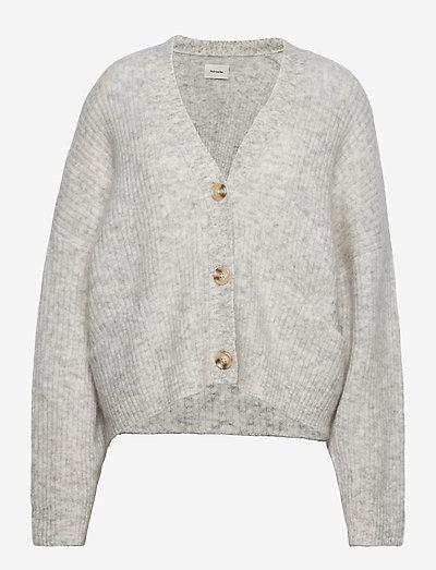 Drive Knit Cardigan - cardigans - lt. grey