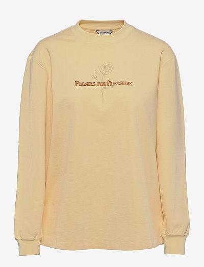 Luring Print LS - gensere og hettegensere - lt. yellow