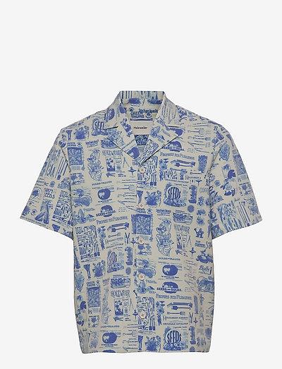 Kia Print Shirt - chemises oxford  use default - blue mix