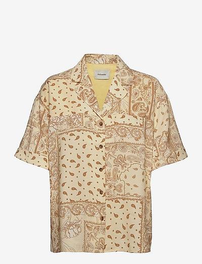 Edgar Print Shirt - denimskjorter - lt. yellow mix